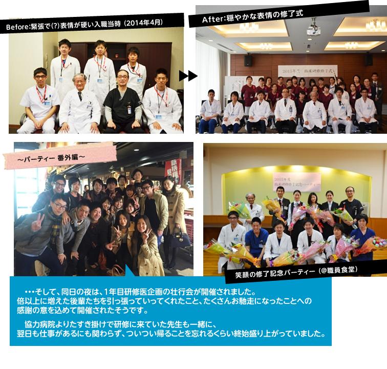 2015年度 臨床研修修了式・修了記念パーティーを開催しました