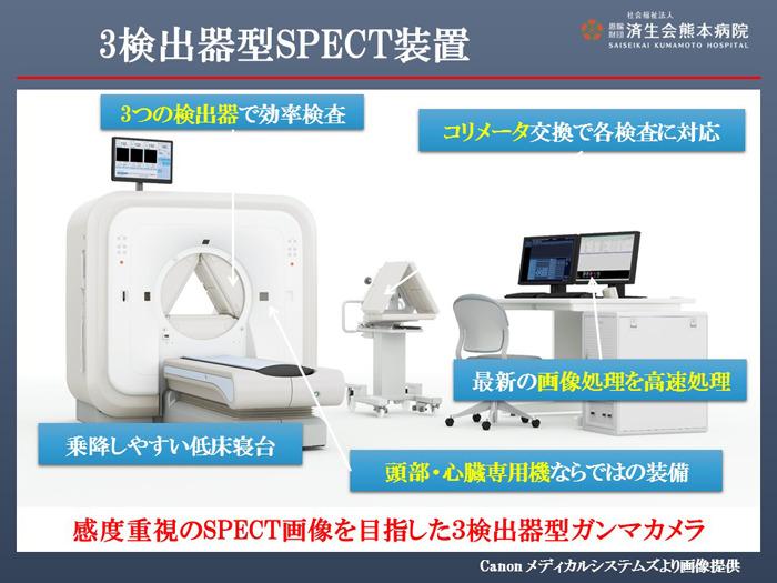 3検出型SPECT装置